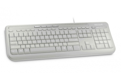Microsoft Wired Keyboard 600 toetsenbord USB Alfanumeriek Engels Wit