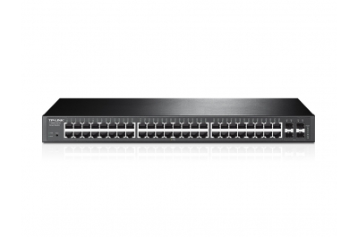 TP-LINK T1600G-52TS (TL-SG2452) Managed L2+ Gigabit Ethernet (10/100/1000) 1U Zwart